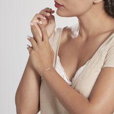 Bracelet Rayan Argent Blanc Oxyde De Zirconium - Bracelets chaînes Femme   Marc Orian