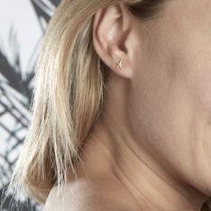 Boucles D'oreilles Or Jaune Aenor Puces - Clous d'oreilles Femme | Marc Orian