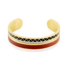 Bracelet Jonc Imagine Victoriano Acier Jaune Strass - Bracelets jonc Femme | Marc Orian