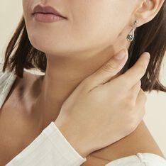 Boucles D'oreilles Pendantes Polynesie Argent Perle D'imitation Oxyde - Boucles d'oreilles Pendantes Femme | Marc Orian