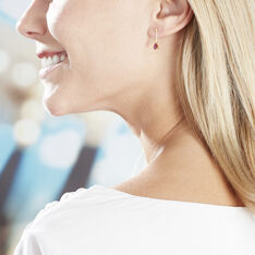 Boucles D'oreilles Pendantes Goutte Or Jaune Rubis - Boucles d'oreilles Pendantes Femme   Marc Orian