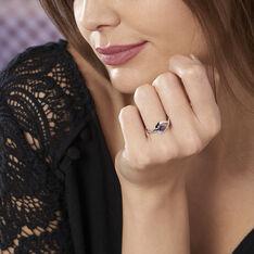 Bague Boucla Or Blanc Saphir Et Diamant - Bagues Solitaire Femme | Marc Orian