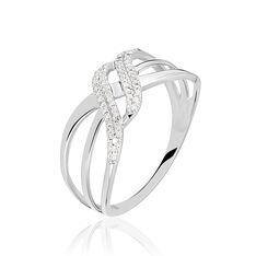 Bague Lyssia Or Blanc Diamant - Bagues Femme   Marc Orian