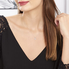 Collier Sweet Heart Or Blanc Diamant - Colliers Femme | Marc Orian