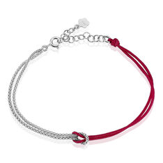 Bracelet Anicha Argent Blanc - Bracelets cordons Femme | Marc Orian
