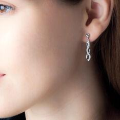 Boucles D'oreilles Pendantes Kessy Argent Blanc Oxyde De Zirconium - Boucles d'oreilles Pendantes Femme | Marc Orian