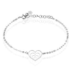 Bracelet Naleen Argent Blanc - Bracelets chaînes Femme | Marc Orian