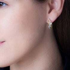 Créoles Illusion Huit Or Jaune Strass - Boucles d'oreilles Créoles Femme | Marc Orian