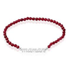 Bracelet Maman Argent Blanc Pierre De Synthese - Bracelets fantaisie Femme | Marc Orian