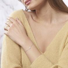 Bracelet Sabine Argent Blanc Oxyde De Zirconium - Bracelets chaînes Femme | Marc Orian