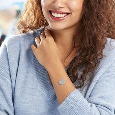 Bracelet Argent Rhodie Cœur - Bracelets chaînes Femme | Marc Orian