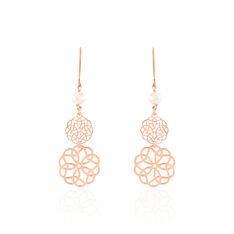 Boucles D'oreilles Pendantes Kaleidoscope Argent Rose Perle De Culture - Boucles d'oreilles Pendantes Femme | Marc Orian