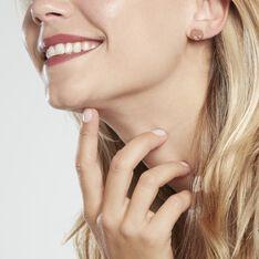Boucles D'oreilles Puces Arbre De Vie Argent Rose - Clous d'oreilles Femme | Marc Orian