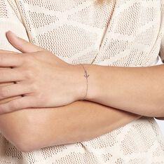 Bracelet Anchora Argent Blanc - Bracelets chaînes Femme   Marc Orian