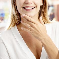 Bague Posie Plaque Or Jaune Oxyde De Zirconium - Bagues Solitaire Femme | Marc Orian