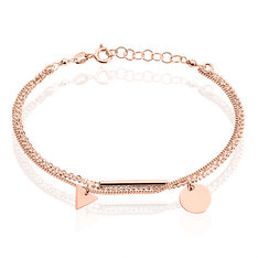 Bracelet Daina Argent Rose - Bracelets chaînes Femme | Marc Orian