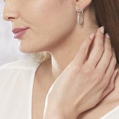 Boucles D'oreilles Pendantes Nathalia Argent Blanc Oxyde De Zirconium - Boucles d'oreilles Pendantes Femme | Marc Orian