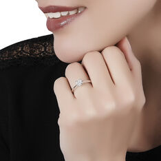 Bague Dream Or Blanc Multi Diamants - Bagues Solitaire Femme | Marc Orian