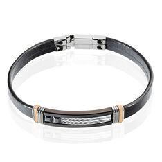 Bracelet Ben Acier Blanc Pierre De Synthese - Bracelets chaînes Homme | Marc Orian
