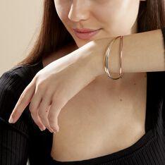 Bracelet Jonc Annie-france Plaque Or Tricolore - Bracelets jonc Femme | Marc Orian