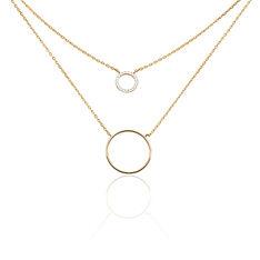 Collier Doneta Plaque Or Jaune Oxyde De Zirconium - Colliers Femme   Marc Orian