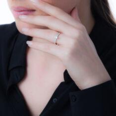 Bague Or Blanc Et Oxyde - Bagues Solitaire Femme | Marc Orian