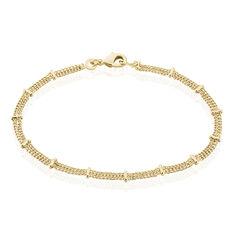 Bracelet Naria Plaque Or Jaune - Bracelets chaînes Femme | Marc Orian
