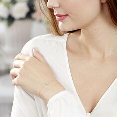 Bracelet Emilia Or Rose Diamant - Bracelets chaînes Femme | Marc Orian