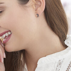 Boucles D'oreilles Puces Anne-marie Or Rose Diamant - Clous d'oreilles Femme | Marc Orian