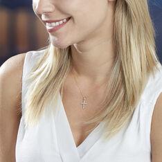 Collier Or Jaune Chriselda Croix Diamant - Colliers Femme | Marc Orian