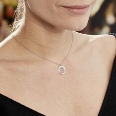 Collier Afaf Argent Blanc - Colliers Femme   Marc Orian