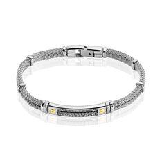 Bracelet Neylahae Or Acier Blanc - Bracelets Homme   Marc Orian