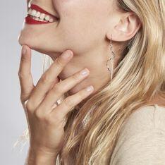 Boucles D'oreilles Pendantes Rizlaine Argent Blanc - Boucles d'oreilles Pendantes Femme | Marc Orian