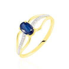 Bague Or Jaune Diamant Et Saphir - Bagues Solitaire Femme | Marc Orian