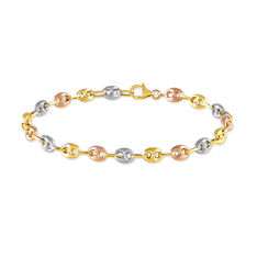 Bracelet Dami Maille Grain De Cafe Or Tricolore - Bracelets mailles Femme | Marc Orian