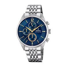 Montre Festina Timeless Chronograph Bleu - Montres classiques Homme   Marc Orian
