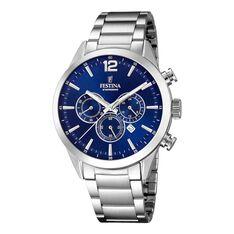 Montre Festina Timeless Chronograph Bleu - Montres sport Homme | Marc Orian