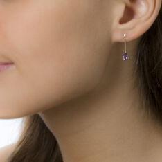 Boucles D'oreilles Pendantes Goutte Or Jaune Amethyste - Boucles d'oreilles Pendantes Femme | Marc Orian