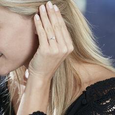 Bague Abbie Or Blanc Diamant - Parure de mariage Femme | Marc Orian