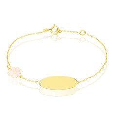 Bracelet Identite Bebe Or Jaune Amadia - Gourmettes Enfant | Marc Orian