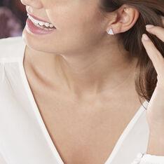 Boucles D'oreilles Puces Gaele Argent Blanc - Clous d'oreilles Femme | Marc Orian