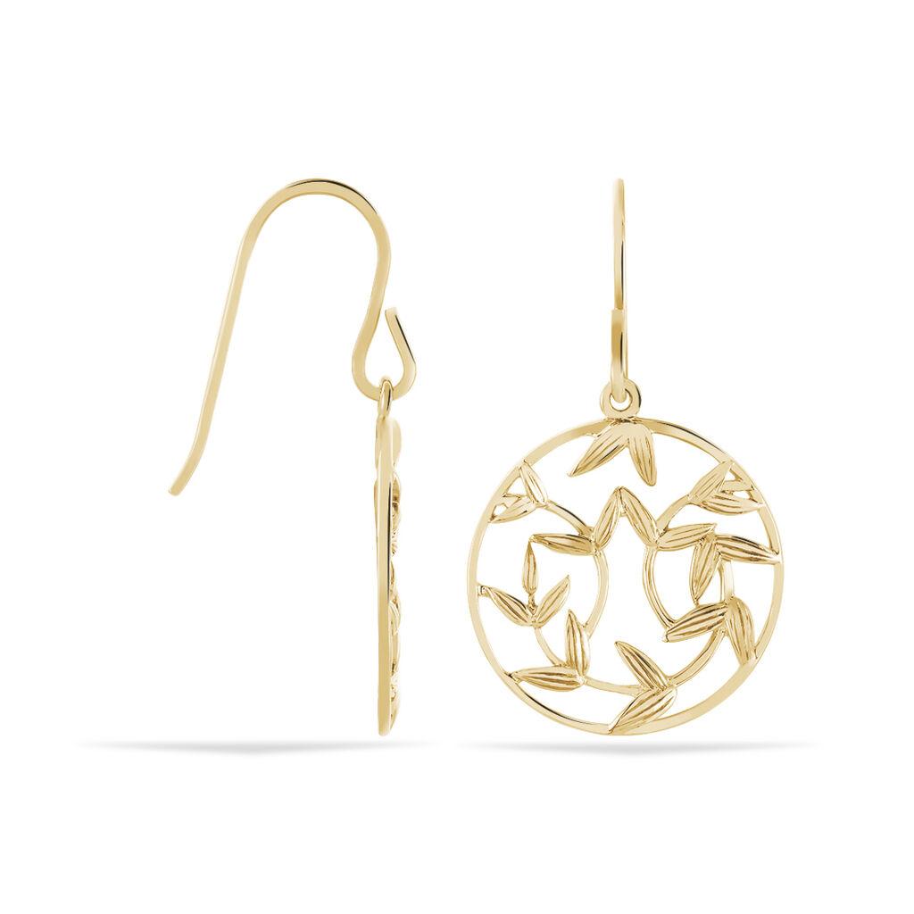 Boucles D'oreilles Plaque Or Resli Pendantes - Boucles d'oreilles Pendantes Femme | Marc Orian