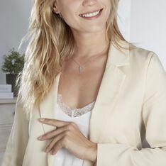 Collier Asnia Argent Blanc Oxyde De Zirconium - Colliers Femme | Marc Orian