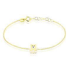 Bracelet Mae Ourson Or Jaune - Bracelets chaînes Enfant | Marc Orian