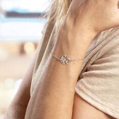 Bracelet Soukaina Argent Blanc - Bracelets chaînes Femme   Marc Orian