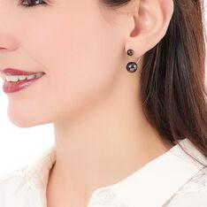 Bijoux D'oreilles Alyson Argent Blanc Céramique - Boucles d'oreilles Ear cuffs Femme   Marc Orian