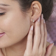 Boucles D'oreilles Puces Eleanor Dauphin Or Jaune Perle De Culture - Clous d'oreilles Femme | Marc Orian