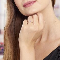 Bague Silucia Or Jaune Amethyste Et Oxyde De Zirconium - Bagues Femme | Marc Orian