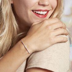 Bracelet Pisa Argent Blanc Oxyde De Zirconium - Bracelets chaînes Femme | Marc Orian