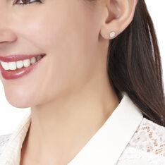 Boucles D'oreilles Puces Minna Argent Blanc Oxyde De Zirconium - Clous d'oreilles Femme | Marc Orian